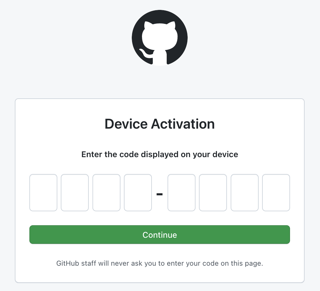Field to enter the user verification code displayed on your device
