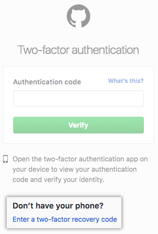 Recovering your account if you lose your 2FA credentials - GitHub Help