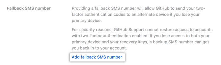 Configuring Two Factor Authentication Recovery Methods Github Help