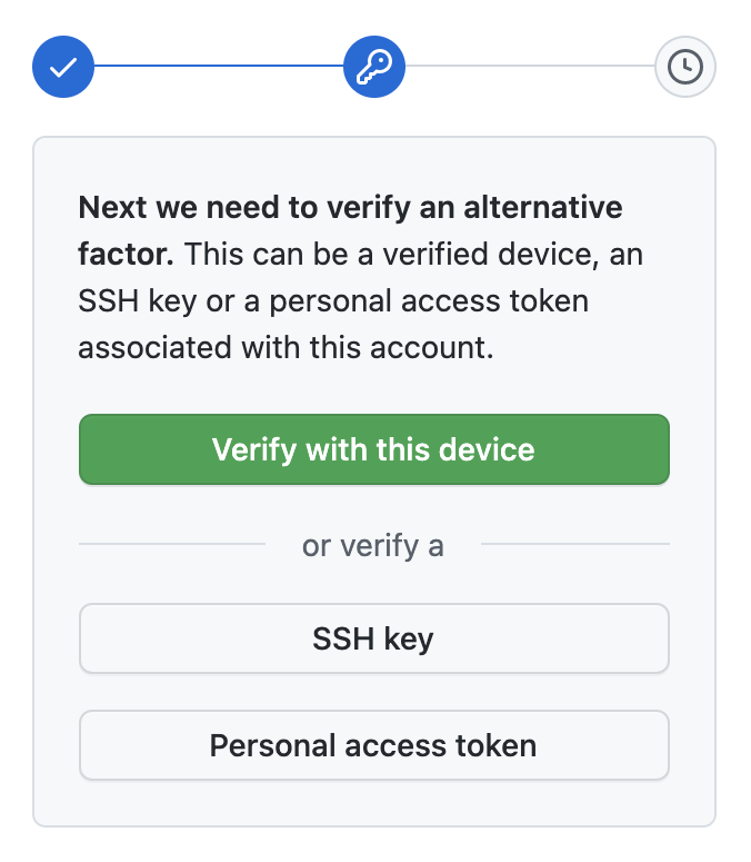 Alternative verification buttons
