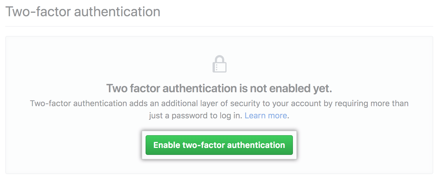 Configuring two-factor authentication - GitHub Help