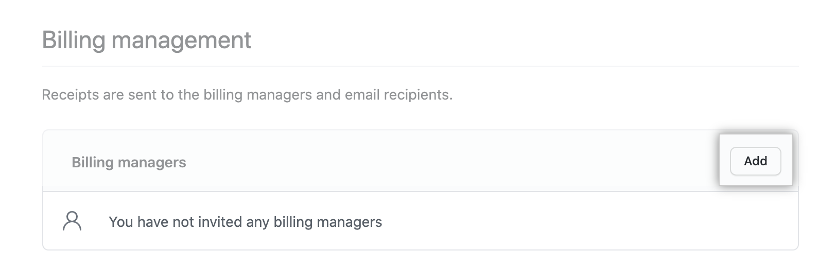 Invite billing manager
