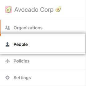 People tab in the enterprise account sidebar