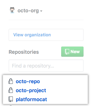 List of repositories you're most active in from your organization