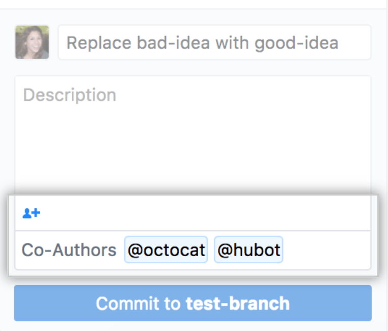 Add a co-author to the commit message