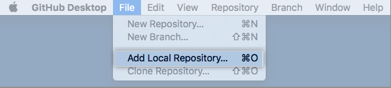 Add Local Repository menu option