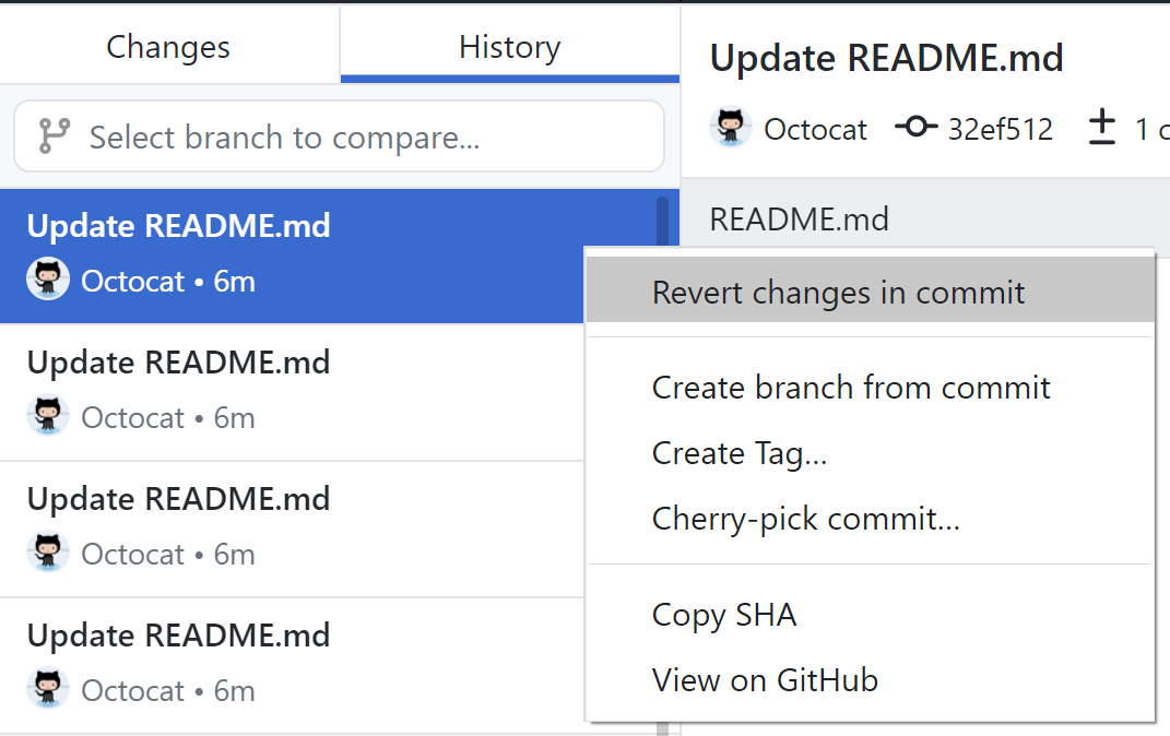 Reverting a commit - GitHub Help