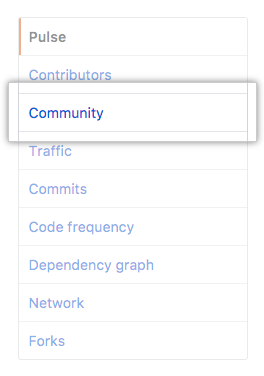 Community in left sidebar