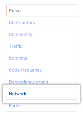 Viewing a repository's network - GitHub Help