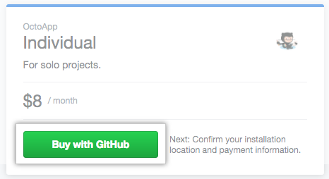 Buy with GitHub button