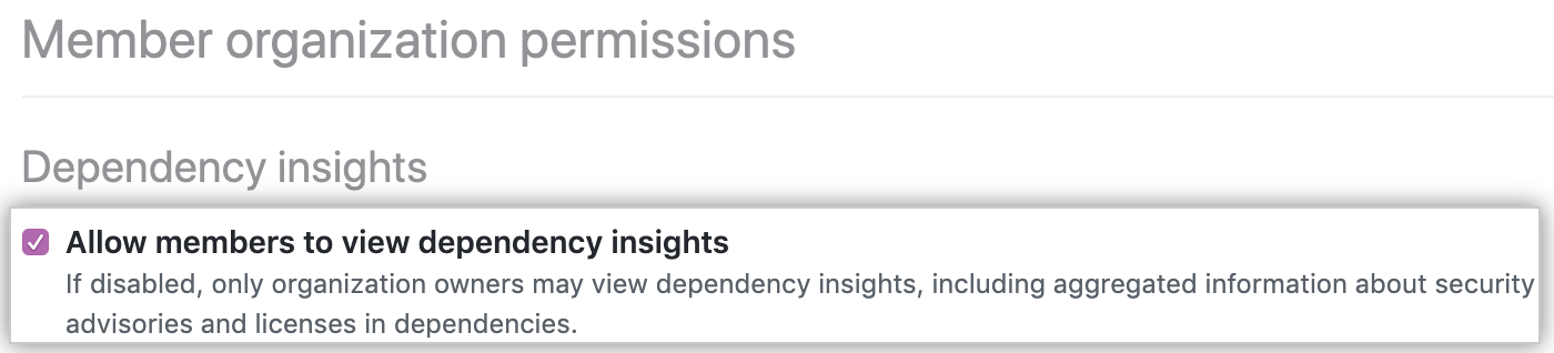 Checkbox to allow members to view insights