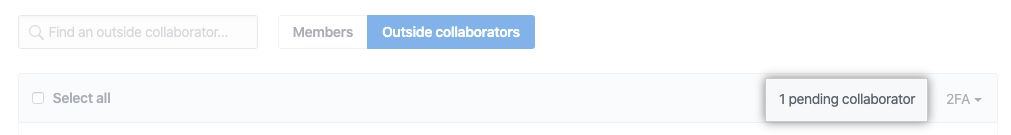 """Pending collaborators"" button"