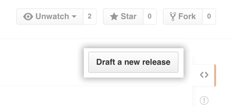 Releases draft button