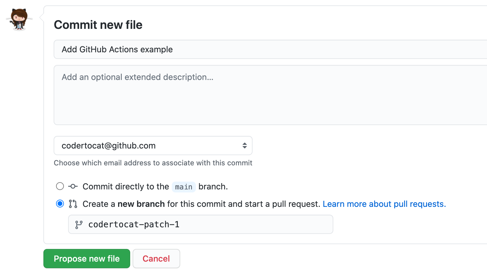 Commit workflow file