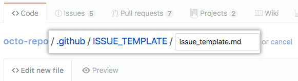 Manually Creating A Single Issue Template For Your Repository User