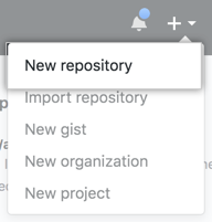 New repository menu