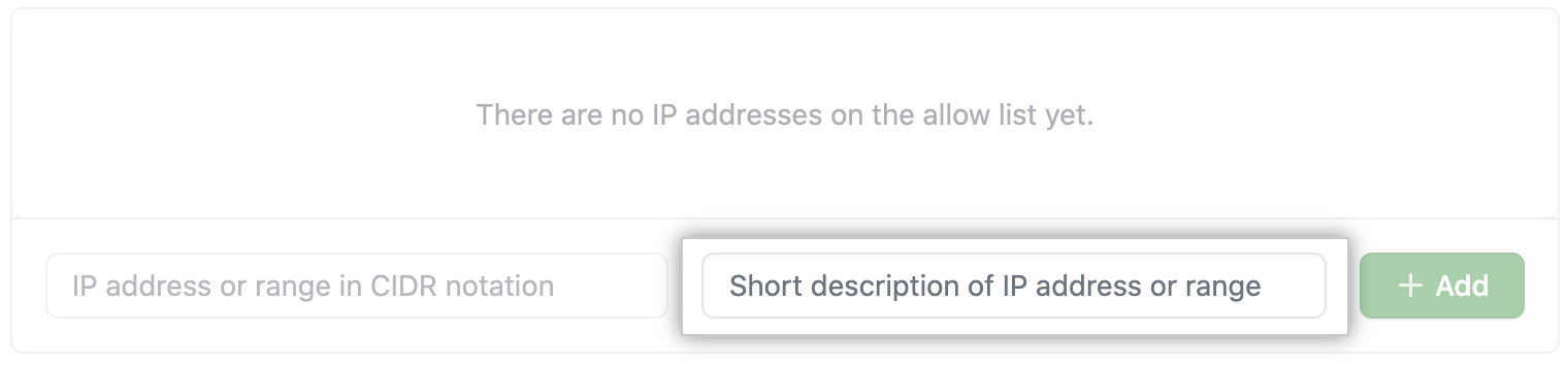 Key field to add name for IP address