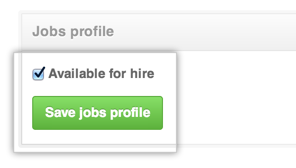 Jobs profile settings