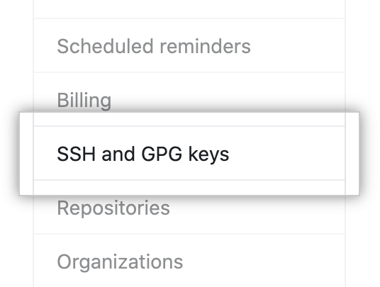 SSH and GPG keys
