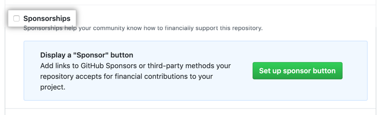 Checkbox to enable Sponsorships